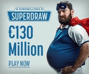 Супер-розыгрыш Евромиллионов с призом в €130 млн